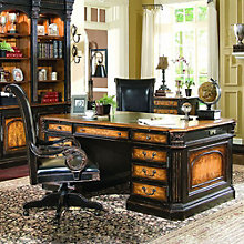 North Hampton Traditional Desk and Leather Chair Set, 8802622