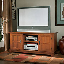 Arts & Crafts Oak Widescreen TV Stand, HOT-5180-12