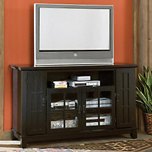 Arts & Crafts Black Widescreen TV Credenza, HOT-5181-10