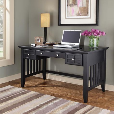 Mission style executive writing desk 54 for Craftsman style office
