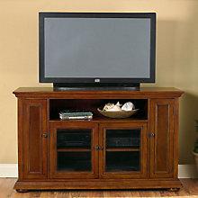 Warm Oak Finish Widescreen TV Credenza, HOT-5527-10