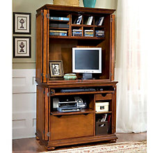 Homestead Warm Oak Computer Armoire, HOT-5527-190