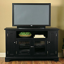 Ebony Finish Widescreen TV Credenza, HOT-5531-10