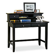 Ebony Finish Student Desk with Hutch, HOT-5531-162