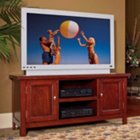 Cherry Finish Wood Veneer Widescreen TV Stand, HOT-5532-12
