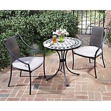 Outdoor Three Piece Bistro Dining Set, HOT-5605-340