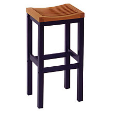 "Cottage Oak and Black Backless Bar Stool - 29""H Seat, HOT-5644-88"