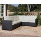 Riviera Outdoor Six Seat Sectional with Stone Fabric, HOT-5801-60