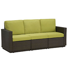 Riviera Outdoor Three Seat Sofa with Green Apple Fabric, HOT-5803-61