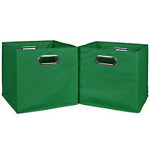 Cubo Set of Three Foldable Canvas Bins, 8803490