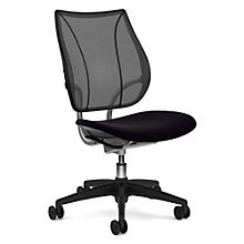 Liberty Armless Ergonomic Computer Chair in Mesh and Fabric, 8803226