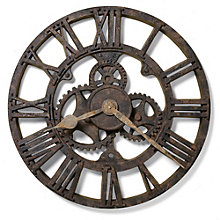 "Rusted Antique 21.5""Dia Wall Clock, 8801553"