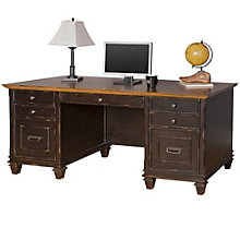 "Hartford Two-Tone Double Pedestal Desk - 69.5""W, 8803147"