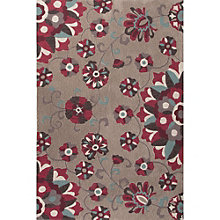 "Blossom Floral Print Area Rug - 90""W x 114""D, 8805083"