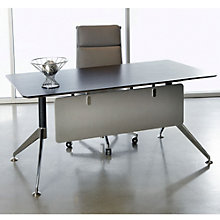 "Modern Flared Leg Compact Writing Desk - 63"" x 32"", JES-10357"