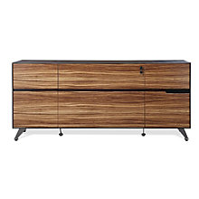Wood Veneer Two Drawer Filing Credenza, JES-10363