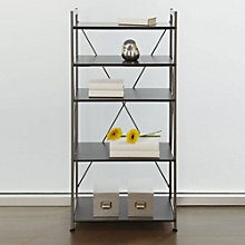 "Tribeca Modern Five Shelf Bookcase - 24"" x 14"", JES-10370"