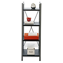 "Tribeca Modern Four Shelf Bookcase - 16"" x 16"", JES-10372"