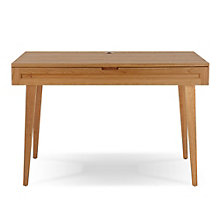 "Highland 44"" Solid Wood Flared Leg Compact Desk, JES-10648"