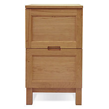 "Highland Two Drawer Solid Wood Vertical File - 17"" W, JES-10651"