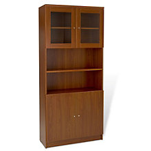 "100 Series Six Shelf Bookcase with Doors - 72""H, JES-10721"