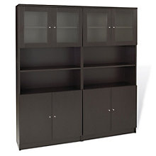 "100 Series 12 Shelf Double Bookcase Set - 72""H, JES-10722"