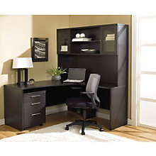 100 Series L-Shaped Desk with Hutch Grouping, JES-10731