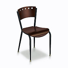 Wood and Metal Break Room Chair, KFI-3818A