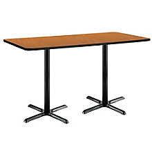 "Bar Height X-Base Two-Pedestal Table - 72""W x 30""D, 8806846"