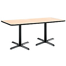 "X-Base Two-Pedestal Table - 72""W x 36""D, 8806847"