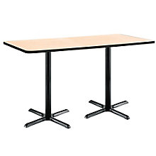 "Bar Height X-Base Two-Pedestal Table - 72""W x 36""D, 8806848"