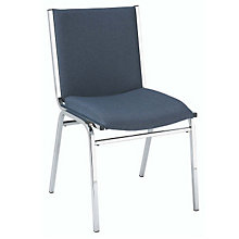 "Armless Designer Fabric Stack Chair - 2"" Thick Seat, 8802847"