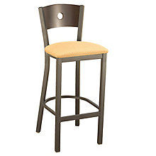 Cafe Stool with Wood Back and Upholstered Seat, KFI-BR3315DU