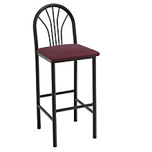 Cafe Stool with Fan Back and Metal Frame, KFI-BR3720U