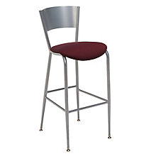 Cafe Stool with Upholstered Seat, KFI-BR3818LCU