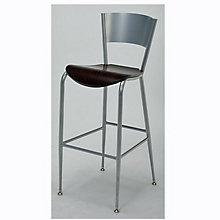 Cafe Stool with Metal Frame and Wood Seat, KFI-BR3818LCW