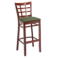 Lattice Back Cafe Stool with Wood Frame, KFI-BR4300U