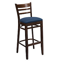 Ladder Back Stool with Wood Frame, KFI-BR4500U