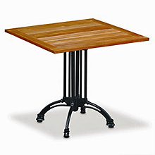"Teak and Aluminum 32"" Square Outdoor Table, KFI-TTK32SQ"