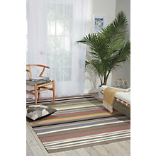 kathy ireland by Nourison Multicolor Stripe Area Rug 8'W x 10.5'D, 8803827