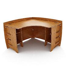 "Bamboo Corner Desk - 47"" x 47"", LEG-CDAO-110"