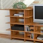 Bamboo Four Shelf Audio Tower, LEG-TWAO-110