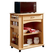 Natural Maple Deluxe Microwave Cart, MEG-597