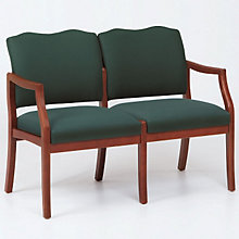 Traditional Style Two Seat Reception Chair, LES-D2951K5