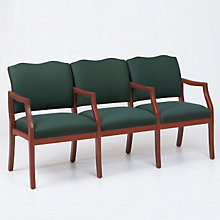 Spencer Three Seat Reception Chair with Center Arms, LES-D3953K5