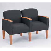Fabric Two Seater with Center Arm, LES-G2453K4