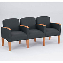 Fabric Three Seater with Center Arms, LES-G3453K4