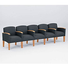 Fabric Five Seater with Center Arms, LES-G5453K4