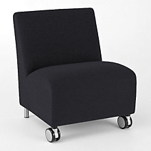 Ravenna Big & Tall Mobile Armless Guest Chair, LES-Q1602C8