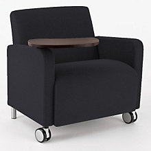 Ravenna Big & Tall Mobile Guest Chair with Tablet Arm, LES-Q1631C8